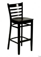 Devon Wooden High Stool in Wenge
